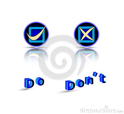 Do do not symbol with text