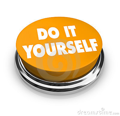 Free Do It Yourself - Orange Button Stock Photography - 9013682