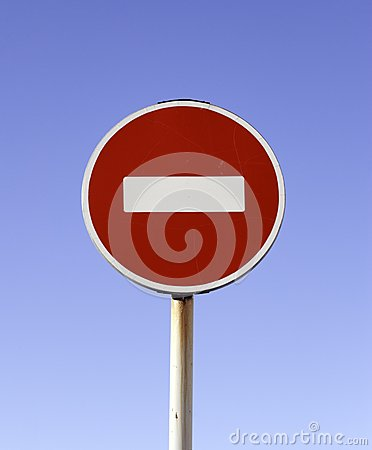 Free Do No Entry Road Sign Royalty Free Stock Photo - 39051185