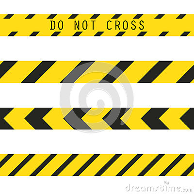 Do not cross the line caution vector tape seamless police warning