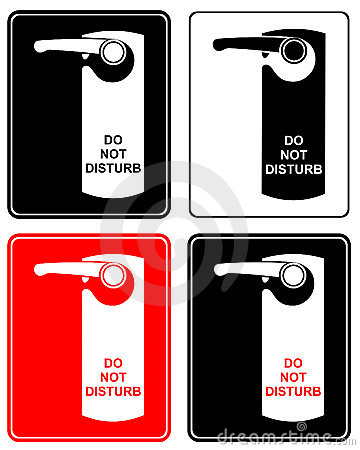 Do not disturb - sign