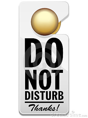 Free Do Not Disturb Sign Stock Photography - 18159732