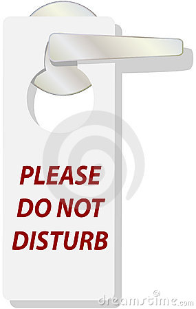 DO NOT DISTURB tag sign