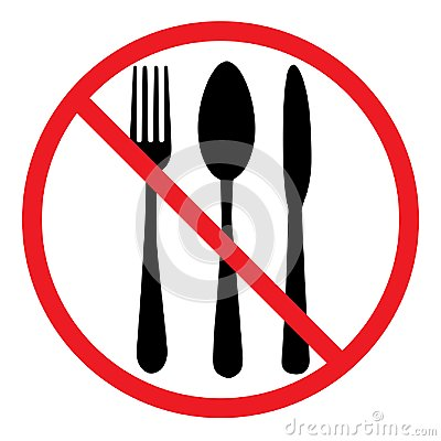 Free Do Not Eat Icon. Cutlery Symbol. Knife, Spoon And Fork. No Food Sign Royalty Free Stock Photography - 106905627
