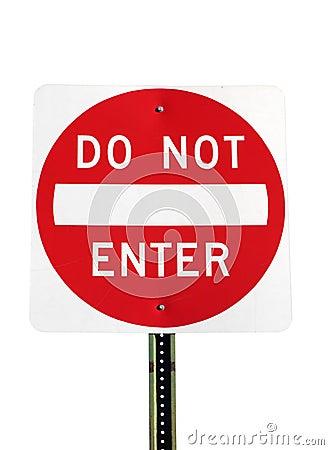 Free Do Not Enter Stock Image - 3239631