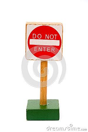 Free Do Not Enter Royalty Free Stock Photo - 8527215