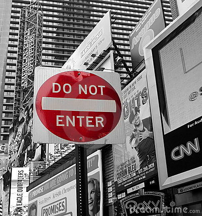 Do not enter sign Editorial Stock Image