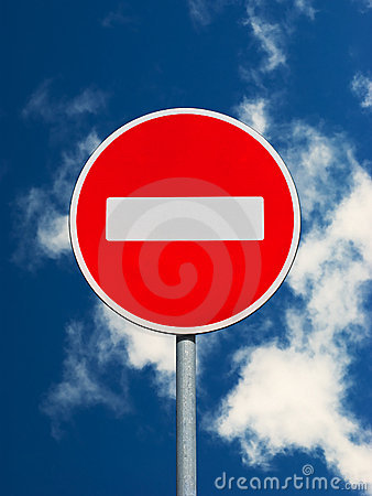 Free Do Not Enter Traffic Sign Royalty Free Stock Photo - 14705995
