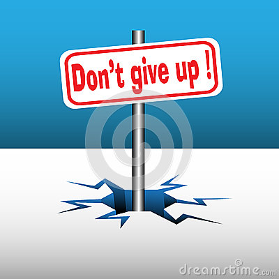 Do not give up plate