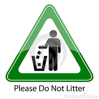Do not litter sign