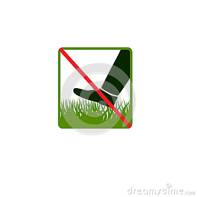Free Do Not Step On Grass Royalty Free Stock Photos - 43266188