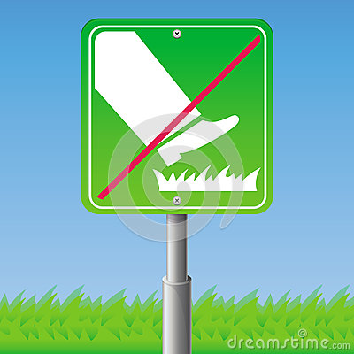 Free Do Not Step On Grass -  Sign Stock Images - 31543074