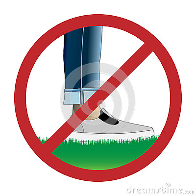Free Do Not Step On Grass Sign Stock Image - 93462801