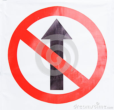 Do not straight sign