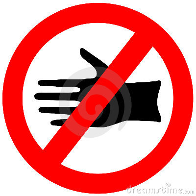 Free Do Not Touch Sign Royalty Free Stock Photo - 14908195