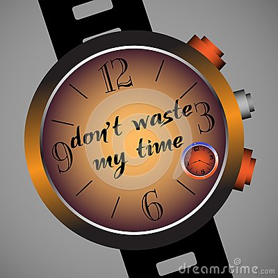 Free Do Not Waste My Time Stock Photos - 30322503