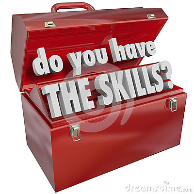 Free Do You Have The Skills Toolbox Experience Abilities Royalty Free Stock Photography - 33298757