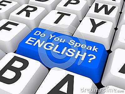 Do you speak English button