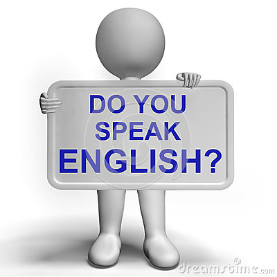 learning to speak english: