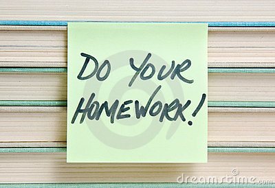 Do your homework sign