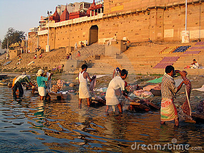 Dobhi in the Ganges Editorial Photography