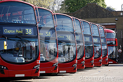 Dobule Decker Buses line up
