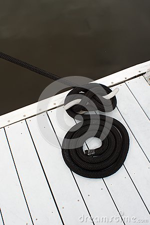 Dock cleat and rope