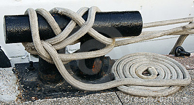 Dock Cleat and white rope