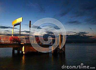 Dock on Lake Leman, Evian, FR