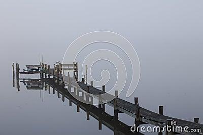 Dock in the Morning Fog