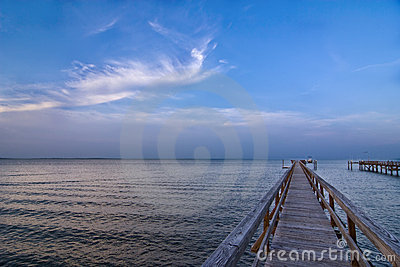 Dock and seascape