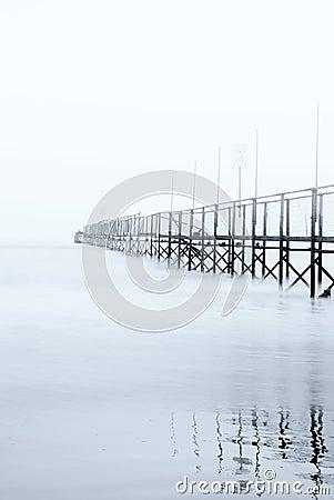 Free Dock Shrouded By The Fog Stock Photos - 21500203