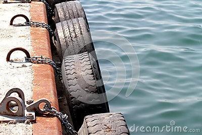 Dock tire bumpers