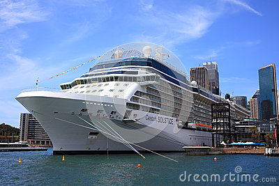 Docked cruise ship Editorial Stock Photo