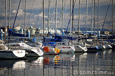 Docked yachts 01 Editorial Stock Image