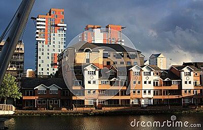 Docklands buildings in London Editorial Image