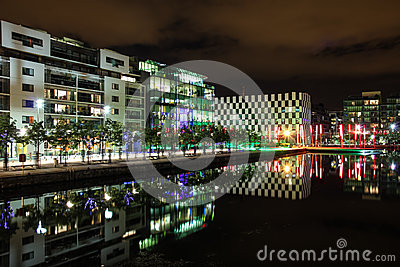 Docklands at night - Dublin