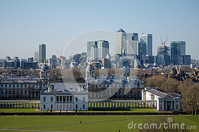 Docklands viewed from Greenwich Park