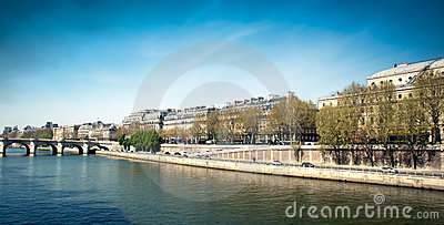Docks along the Seine river - Paris - Fran