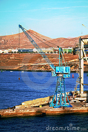 Dockside Crane in the canary islands