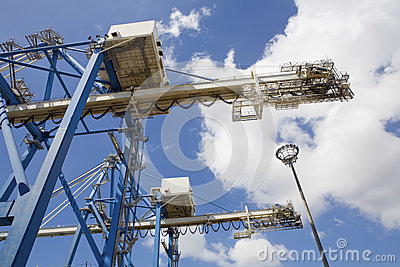 Dockside Cranes Used For Unloading Container Ships