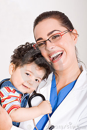Free Doctor And Baby Stock Photos - 8182273