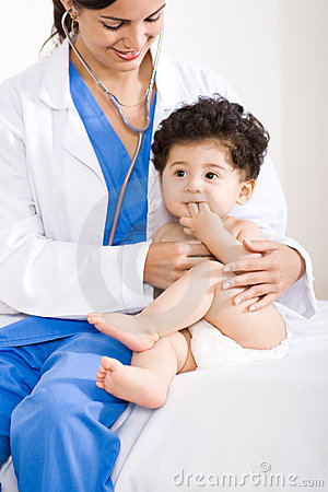 Free Doctor And Baby Stock Photos - 9084973