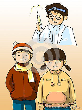 Free Doctor And Kids Stock Photography - 28410002