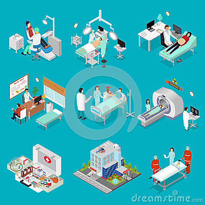 Free Doctor And Symbol Of Medicine Design Element Set Isometric View. Vector Royalty Free Stock Images - 92580179