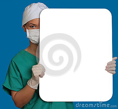 Doctor with a Blank Board