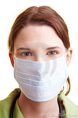 Doctor with breathing mask
