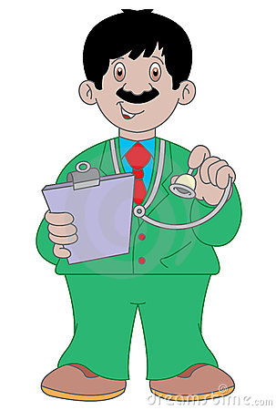 Doctor cartoon illustration
