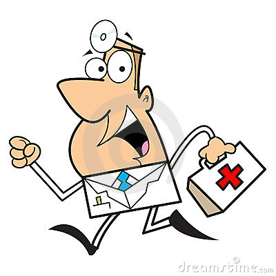 Free Doctor Cartoon Illustration Stock Photography - 12117372