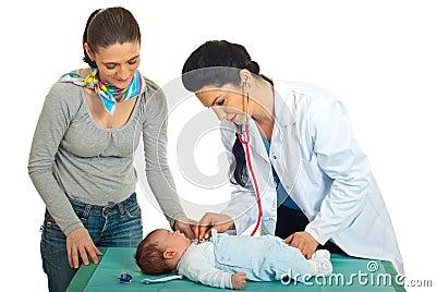 Doctor checkup newborn baby